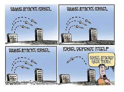 Hamas attacks Israel cartoon